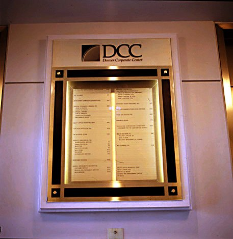 Denver Corporate Center Directory Sign