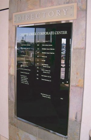 Interior Lobby Directory Sign