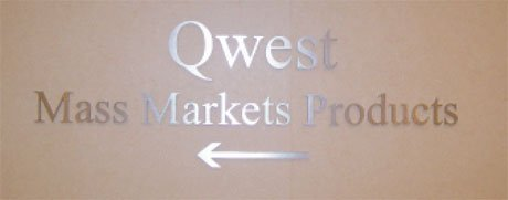 Interior Office Qwest Directional Sign