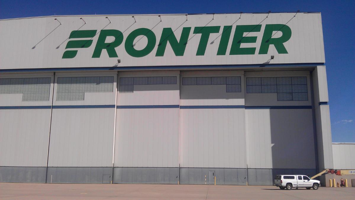 Frontier Large Painted Graphics on Hanger Outdoor Sign
