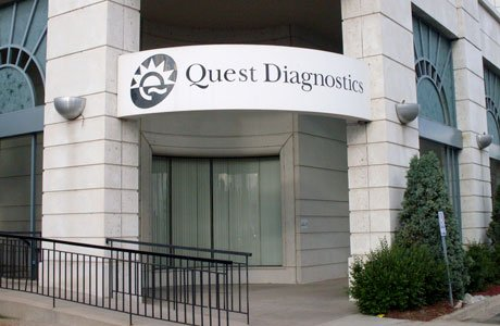 Aluminum Company Sign - Quest Diagnostics
