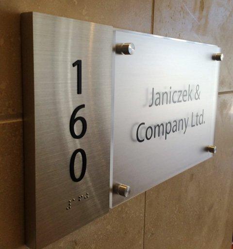 Janiczek & Company ADA Office Sign