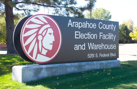 Arapahoe Cty Election Facility Monument Outdoor Sign