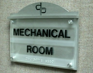 Mechanical Room Tactile Sign