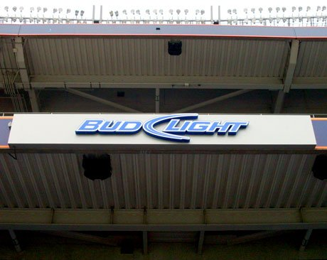 Bud Light at Invesco Field Outdoor Sign