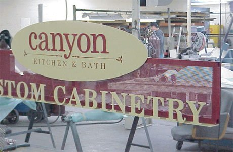 Storefront Sign - Canyon Custom Cabinetry