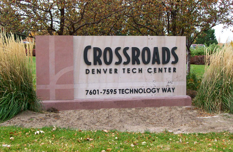 Sandstone Monument Sign - DTC Crossroads