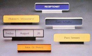 Metal Desk Nameplate Holders