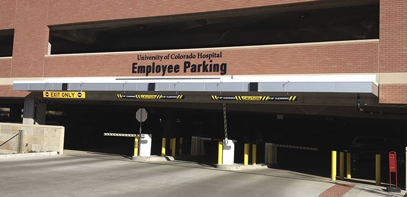 Exterior Parking Structure Signs