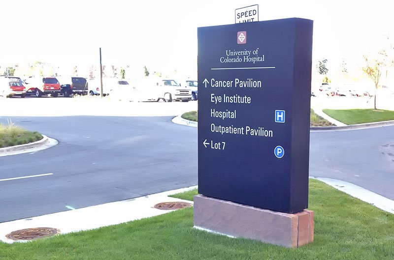 Hospital Exterior Directional Signs