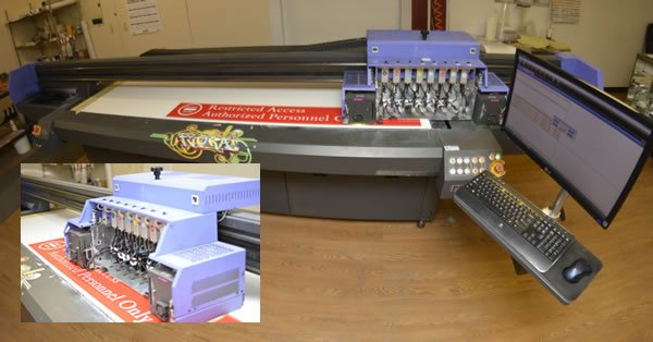 Flatbed large format printing
