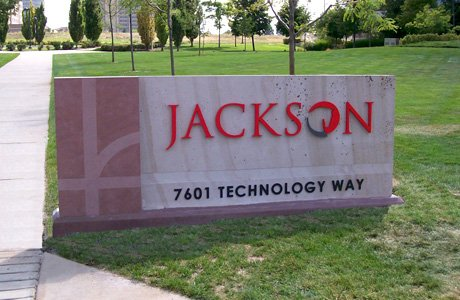 Jackson Sandstone Monument Sign - DTC Jackson Outdoor Sign