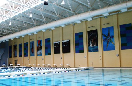 Large-format indoor banners