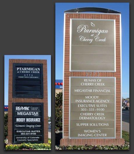 Ptarmigan Outdoor Illuminated Directory Sign
