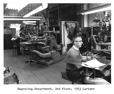 Sachs-Lawlor Engraving Department