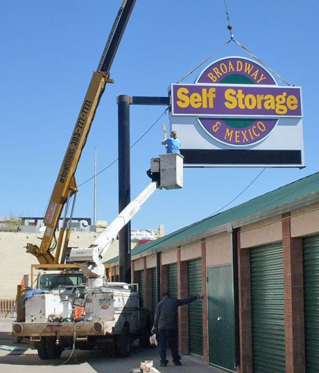 Illuminated Outdoor Sign - Self Storage Exterior Signage image