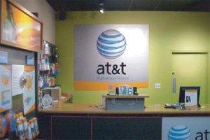 AT&T Indoor Sign Installation