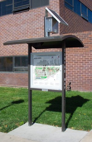 Solar Illuminated Outdoor Sign Kiosk