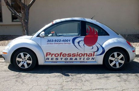 Cut vinyl fleet graphics - Professional Restoration Fleet Signage image