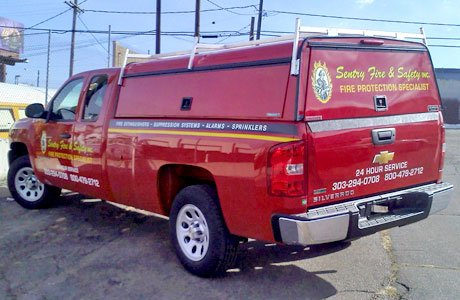 Cut vinyl fleet graphics - Sentry Fire & Safety
