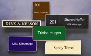 Wall nameplate signs