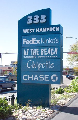West Hampden Ave Pylon Directory Sign