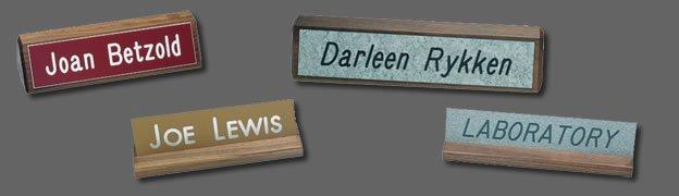 Wood Desk Nameplate Holders