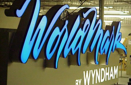 WorldMark Illuminated Channel Letters Outdoor Sign