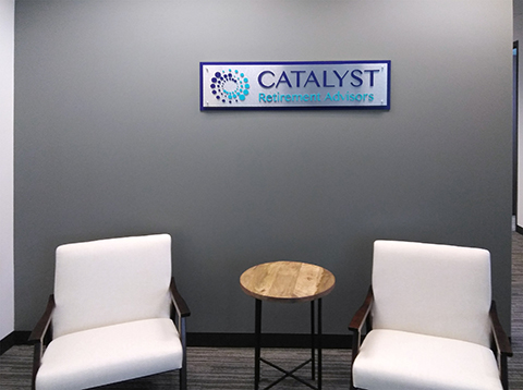 Catalyst Indoor Sign Installation