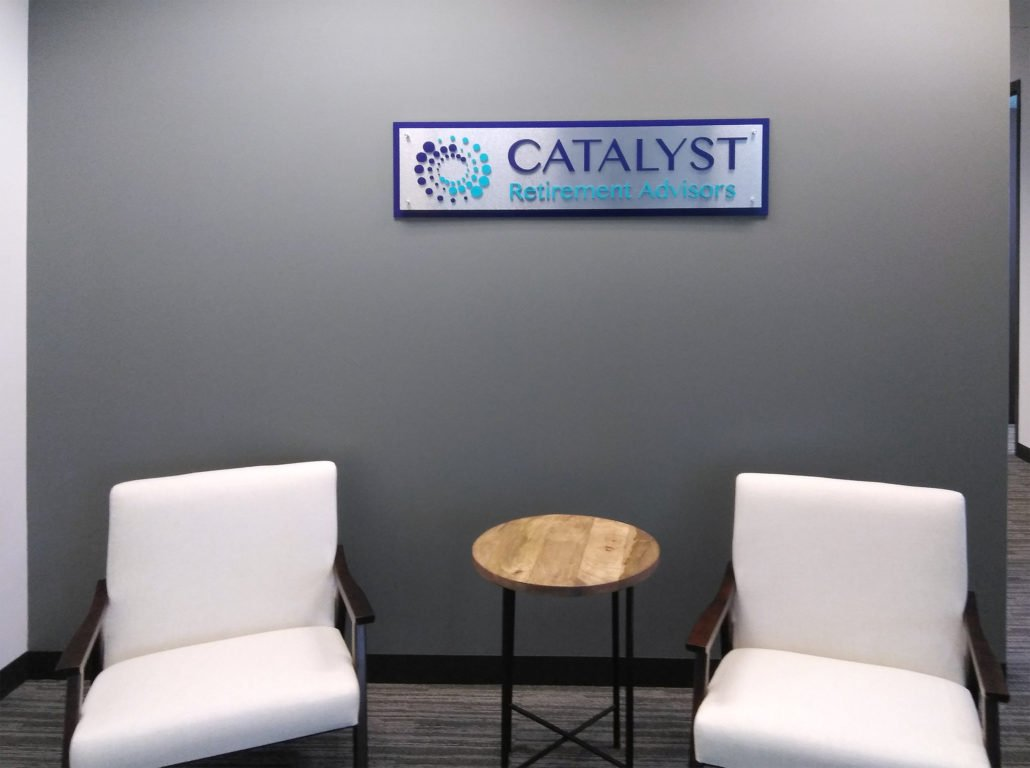 Catalyst reception wall sign