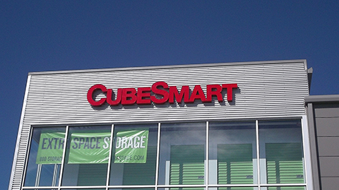 Cube Smart Illuminated pan channel letters outdoor sign
