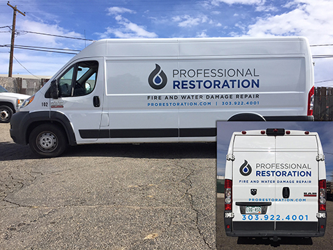 Professional Restoration Fleet vehicle graphics