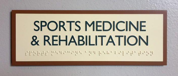 Skyridge Custom Braille Sign