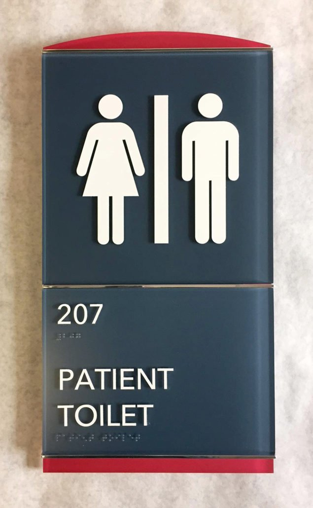 UCHealth ADA Restroom Signs