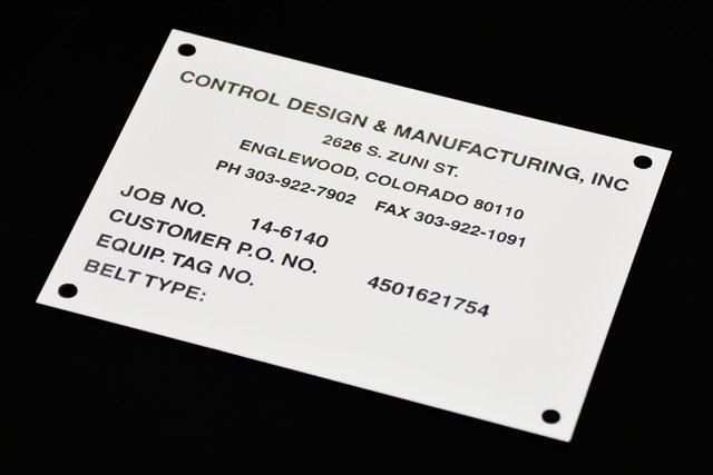Control Design Equipment Tag