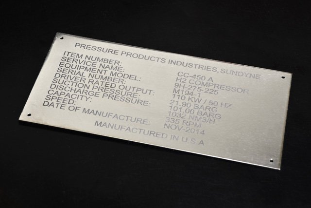 Pressure Production Industries Equipment Tag