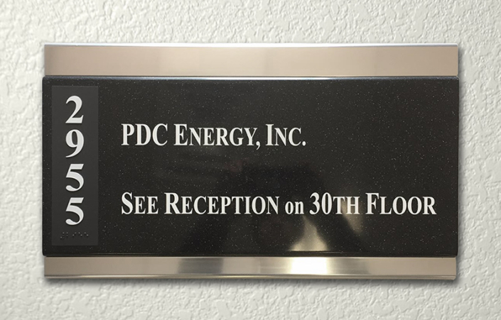 PDC Suite Interior Sign