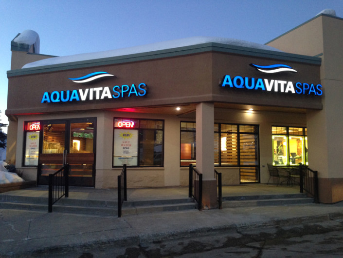 Channel Letter Fabrication Aqua Vita Spas