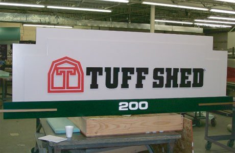 Layered Sign Fabrication - Tuff Shed